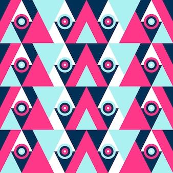 Ретро стиль абстрактные геометрические цветные бесшовные модели.