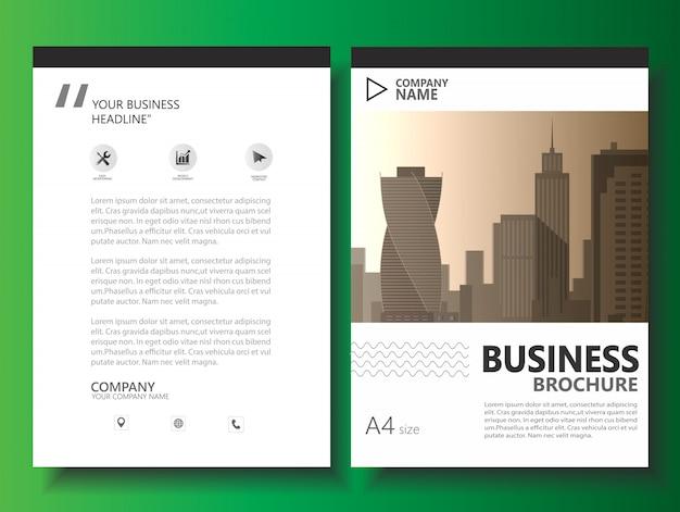ビジネスパンフレットチラシベクトルテンプレート