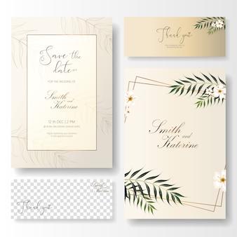 Сохраните дату золотых свадебных открыток