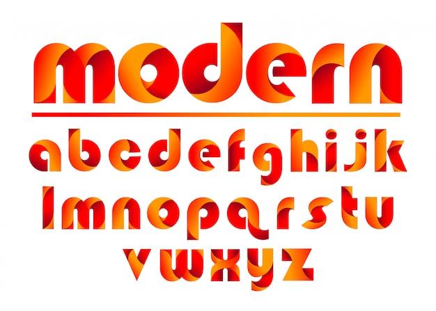 カラフルな文字セット
