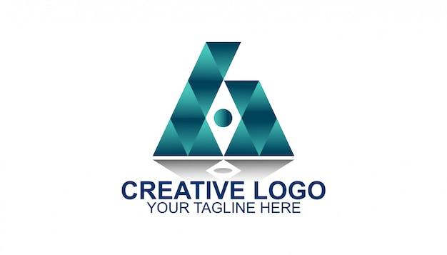三角形のクリエイティブロゴ