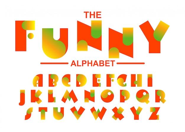 面白いアルファベットフォントのタイポグラフィデザイン