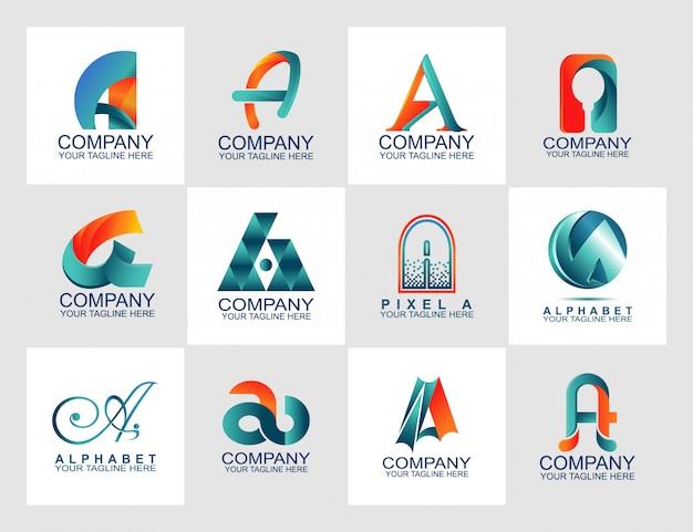 抽象的なロゴ付きデザインテンプレート