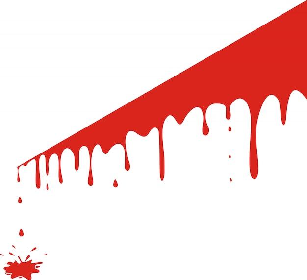 Капающая кровь, изолированная на белом
