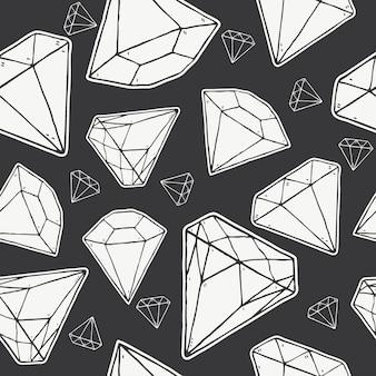 ダイヤモンドのシームレスパターン、