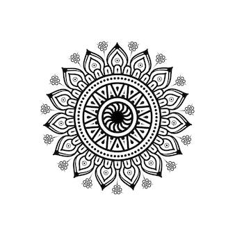 Круглая цветочная мандала