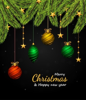 Рождественская елка бордюр и украшения