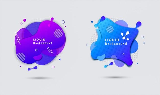 抽象的な液体形状バナー販売ポスターデザイン