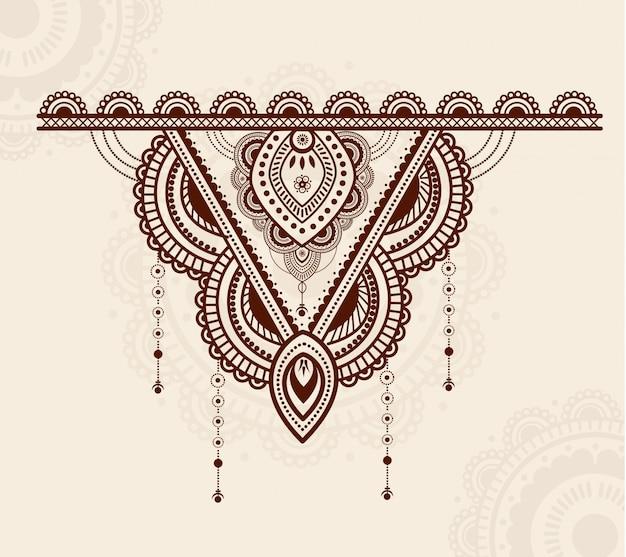 エレガントなカラフルで豪華なマンダラ飾りデザイン