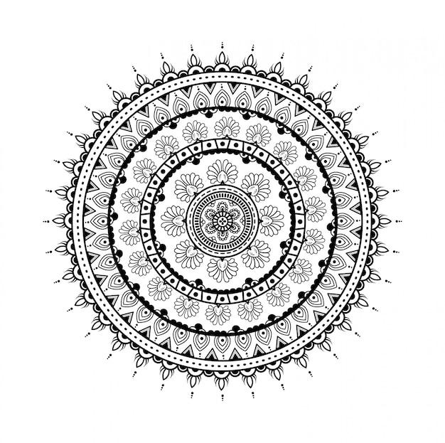 装飾の華やかな丸いマンダラ