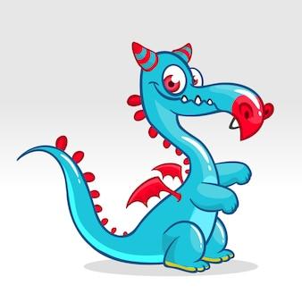 Забавный мультяшный дракончик на хэллоуин