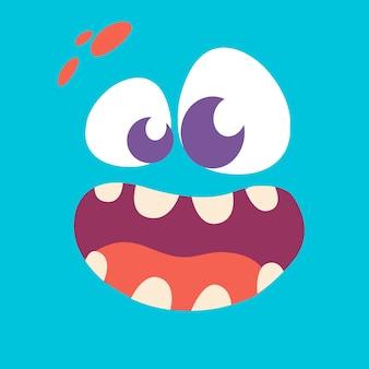 漫画のモンスターの顔のアバター。ハロウィンモンスター