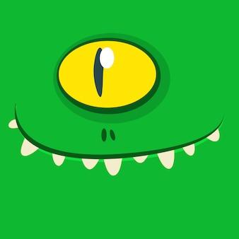 Мультяшный монстр лицо аватара. хэллоуин монстр
