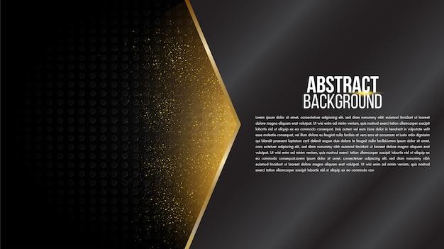 黒の抽象的な背景マットグリッドラインと幾何学的なエレガントな未来的な光沢のある光