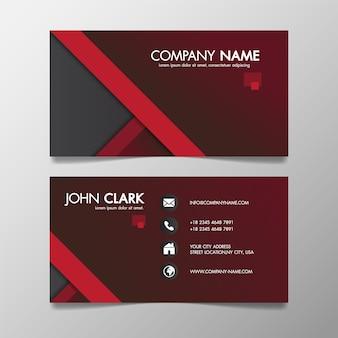 赤と黒の近代的な創造的なビジネステンプレートのパターンと名刺。