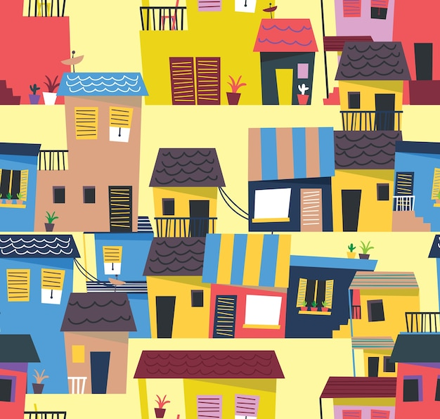 抽象的な家のパターン
