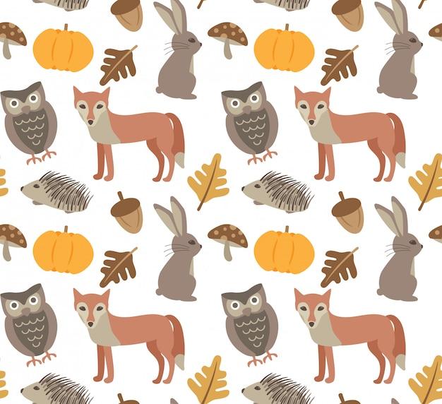 秋の動物の背景