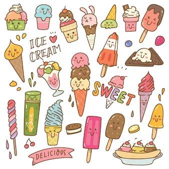Набор мороженого в стиле каваи