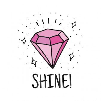 ダイヤモンドのキュートなデザイン