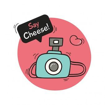Симпатичный дизайн с камерой