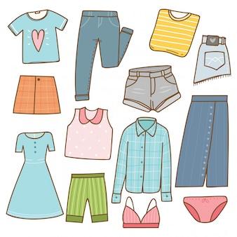 Коллекция женской одежды в стиле каракули