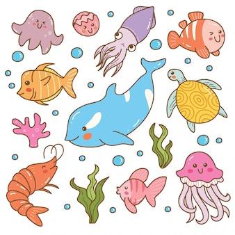 海の動物カワイイセット