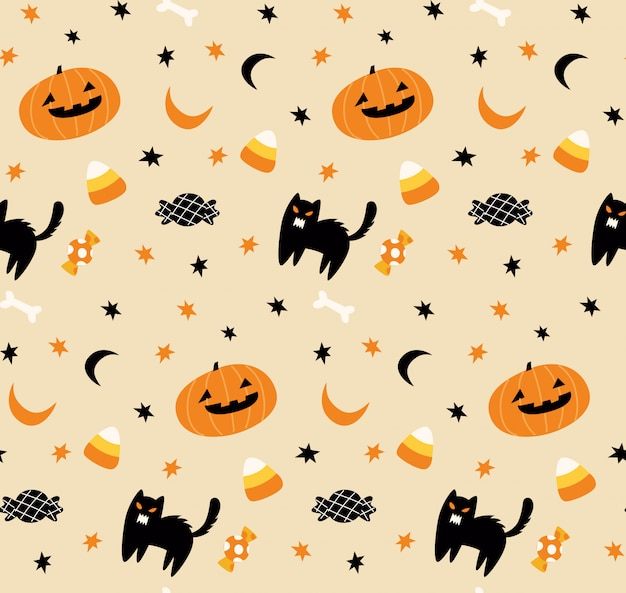 Милый хэллоуин бесшовный фон