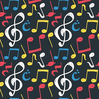 音楽ノートのシームレスな背景