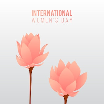 女性の日の花の背景