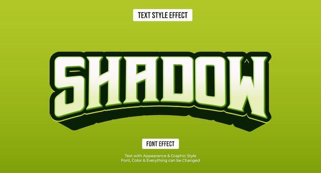 Редактируемый текстовый эффект - зеленый игровой стиль киберспорта