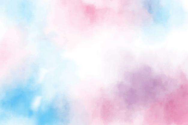 青とピンクの甘いお菓子の水彩画の背景