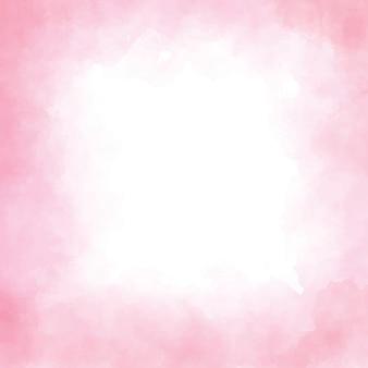ピンクの水彩正方形スプラッシュフレーム