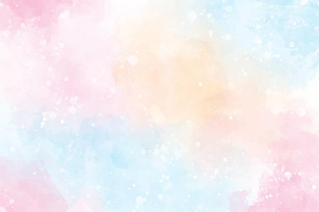 ピンクのマルチカラーの甘いお菓子バレンタインウェットウォッシュスプラッシュ水彩背景
