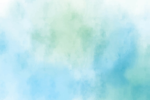 青と緑の水彩画