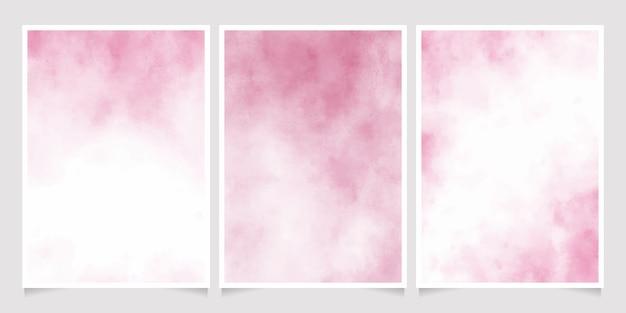 ピンクのウェット紙水彩背景