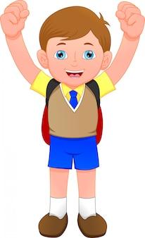 かわいい学校の男の子