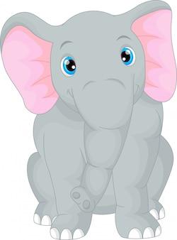 Милый слоненок мультфильм