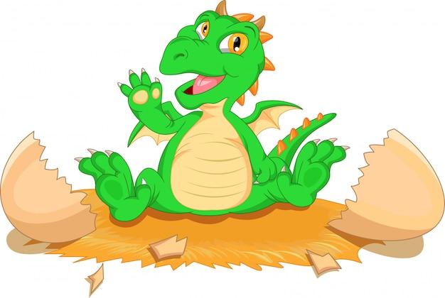かわいい恐竜漫画の孵化