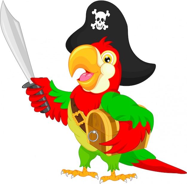 Мультфильм пиратский попугай
