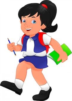 かわいい学校の女の子