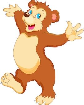 Мультфильм милый ребенок медведь