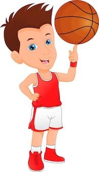 男の子バスケットボール選手