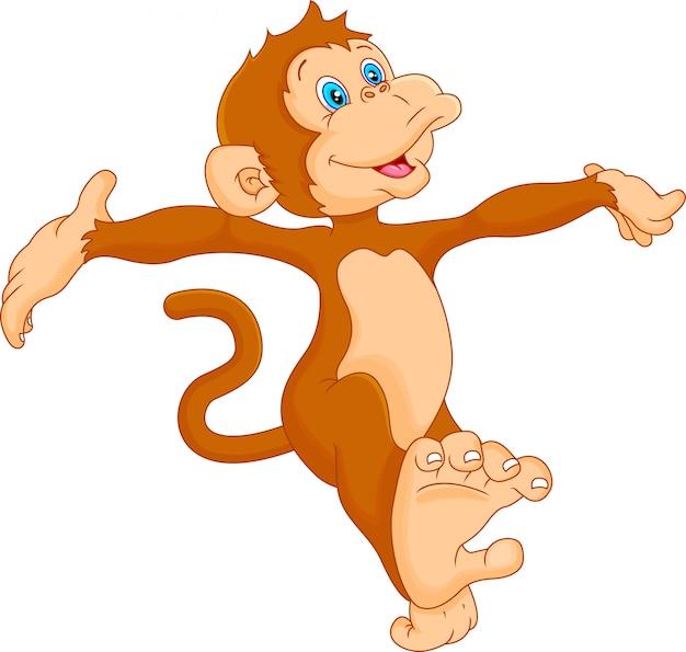 Милый мультфильм обезьяна