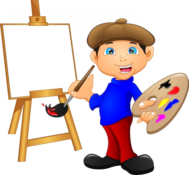 絵画漫画少年