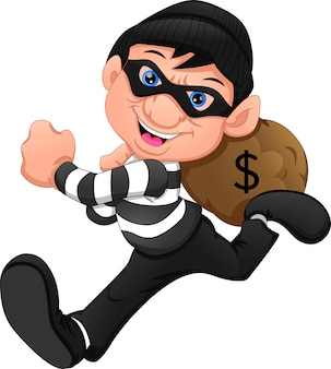泥棒はお金で逃げた