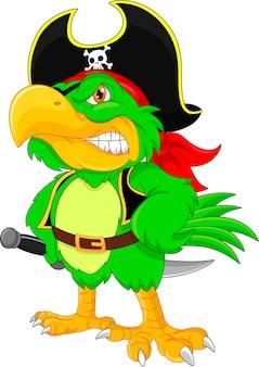 海賊のオウムの漫画
