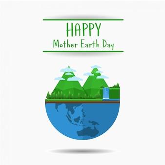 幸せな母なる地球の日バナー