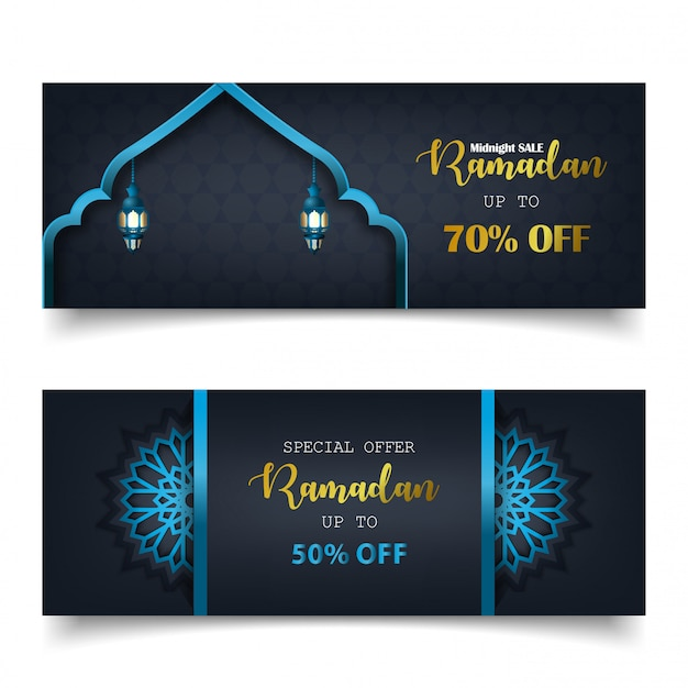 Специальное предложение рамадан продажа исламский баннер шаблон