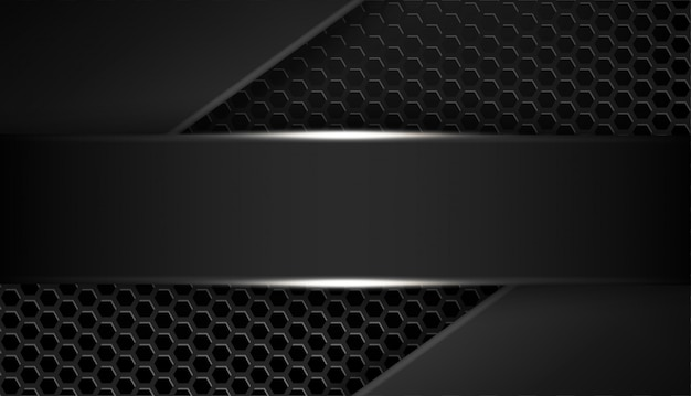 きらめきと光の効果を持つ形状抽象的なブラックフレームレイアウトデザイン技術をオーバーラップします