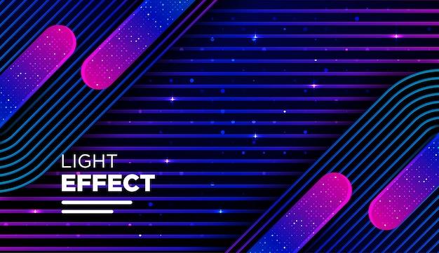 Абстрактная линия цвета с градиентом и световым эффектом